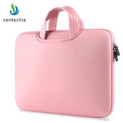 Bolsas de computador portátil luva caso esponja material de respiração computador laptops saco sólido notebook tablet saco 11 13.3 15.4 15.6 polegada tamanho