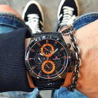 NAVIFORCE Creative Quartz Men WristWatches Top Brand Sports Watches Waterproof Full Steel Business Clock Male Relogio Masculino