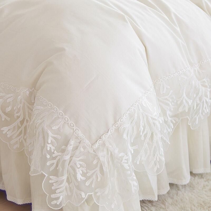 Koronka ślubna narzuta księżniczka zestawy pościeli królowa - Tekstylia do domu - Zdjęcie 3