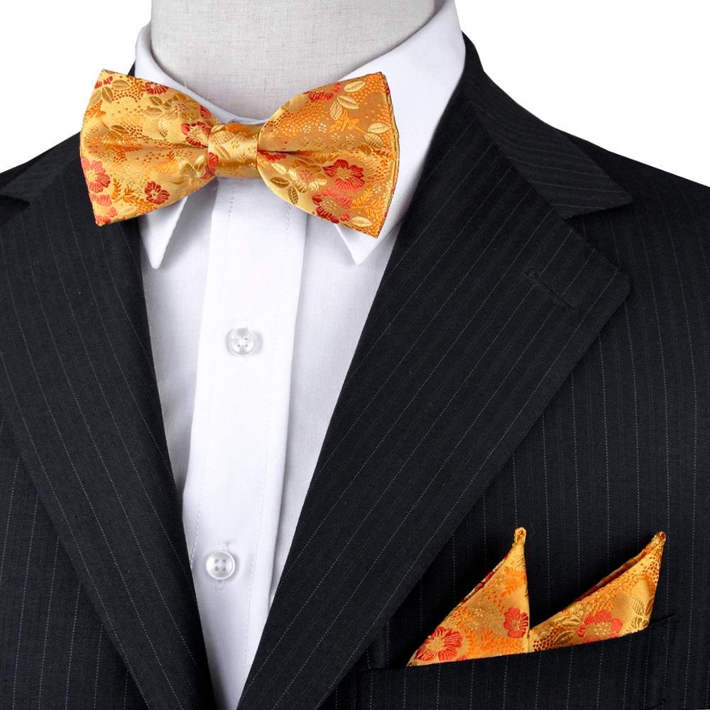 Květinový žlutý zlato oranžový červený smoking svázaný - Příslušenství pro oděvy