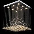 Современный квадрат K9 кристалл рыбы тип линии GU10 LED люстра Пирамида Форма лампы Лестница Гостиная Спальня