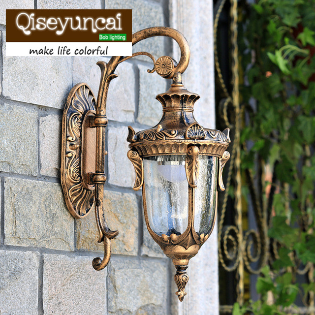 The balcony lamp European Garden aisle wall lamp outdoor wall lamp luxury villa courtyard lamp background wall waterproof wall outdoor small column courtyard wall lamp post villa exterior wall lamp lu8141400