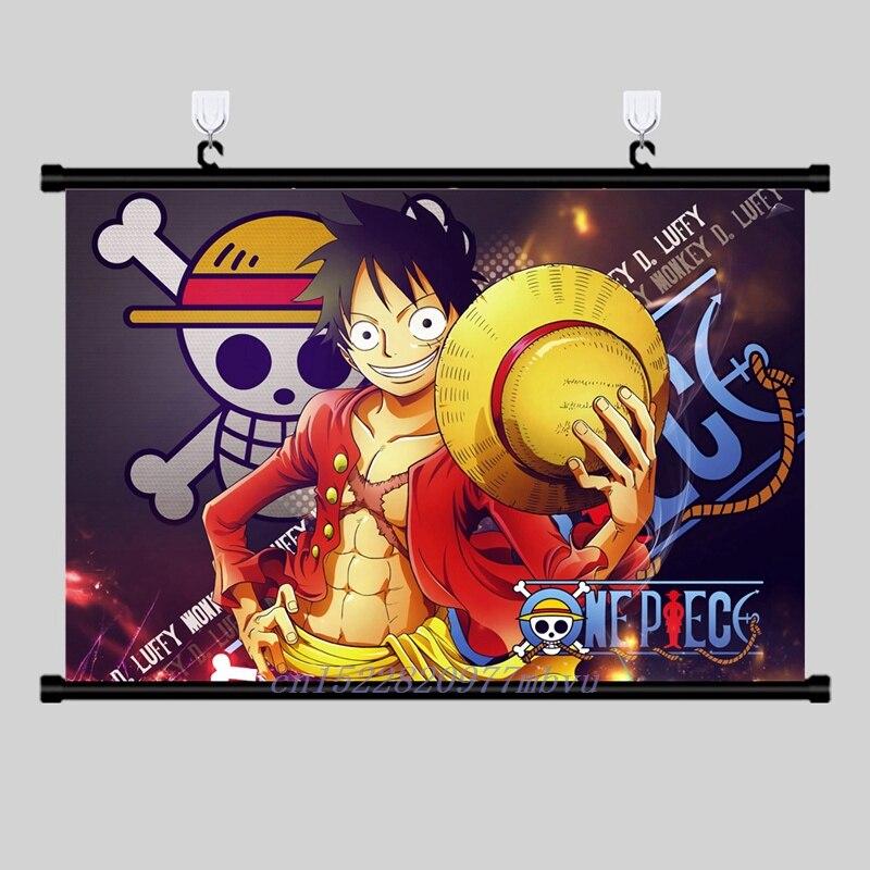 "Hot Japan Anime One Piece Luffy Zoro Sanji Wall Scroll Home Decor 8/""×12/"" 010"
