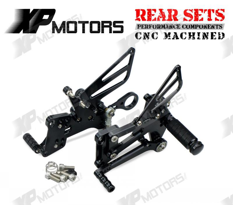 New Arrived BLack CNC Billet Foot pegs  Adjustable Racing Rear Sets Fit For BMW S1000R S1000RR HP4