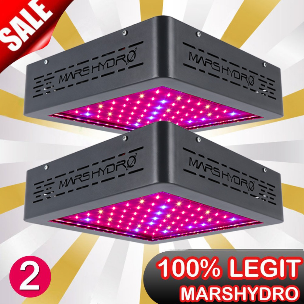 2PCS Mars Hydro MarsII 400 Full Spectrum LED Grow Light Hydroponics Indoor Plant Lamp/Light for Grow Box Medical Plants Garden 200w 1715red 294blue high power led grow light for medical flower plant and indoor hydroponics vegetative full spectrum grow box