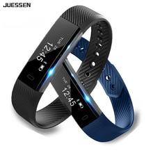 Juessen Smartband ID115 Smart Bracelet Fitness Tracker Step Counter Activity Monitor Band Vibration Wristband pk Mi
