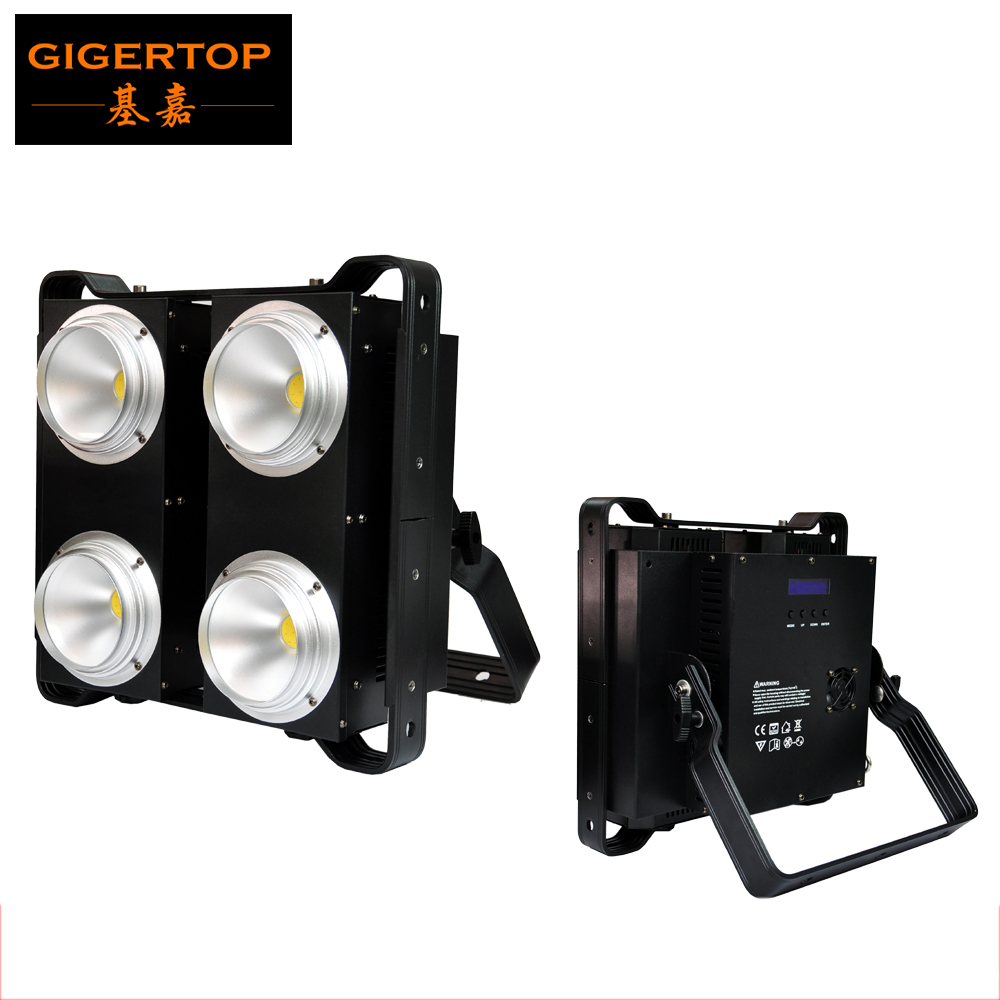 TIPTOP 4X100W Warm White/Cold White/2in1 White Led Audience Blinder Light 4 Eye Stage Projector Pixel Control China Stage Light