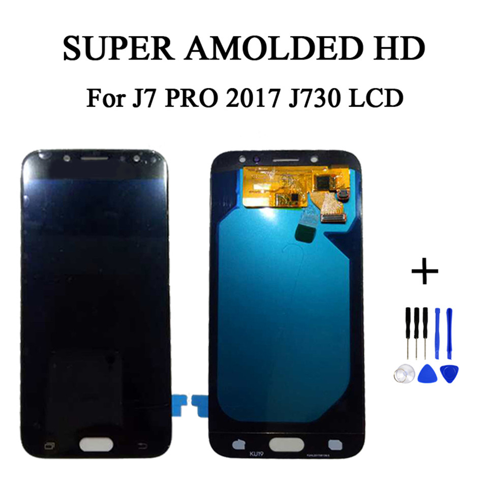 Super Amoled J730F LCDs For Samsung Galaxy J730 J7 Pro 2017 Phone LCD Display Touch Screen