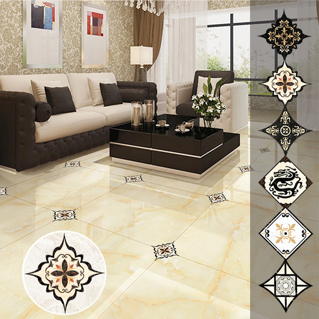 1Set(21pcs)Self-adhesive Bedroom Floor Tile Diagonal Sticker Waterproof and Mildew Beauty Seam Stickers Wall Gap Decoration 1