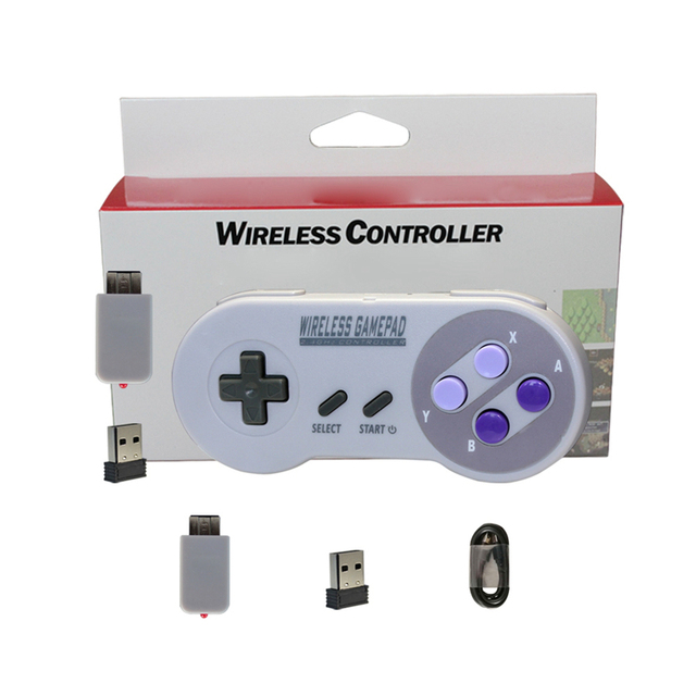 1 piece 2.4GHZ Wireless Controller for SNES for Super Nintendo Classic MINI