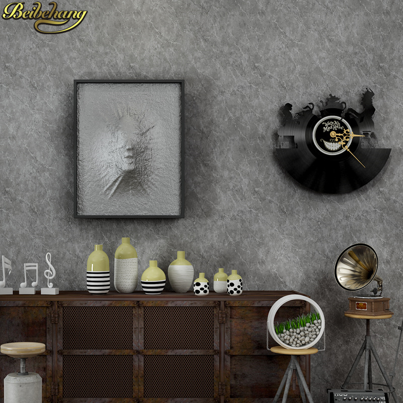 beibehang silver grey texture wallpaper roll simple plain vinyl wall paper papel de parede papel de parede for home background modern striped velvet flocked wallpaper roll background dark gold brown papel de parede home decor
