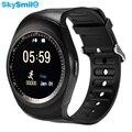 Skysmile bluetooth smart watch gw01 rodada tela huawei smartwatch relógio para apple ios android esporte pulseira sim suporte tf