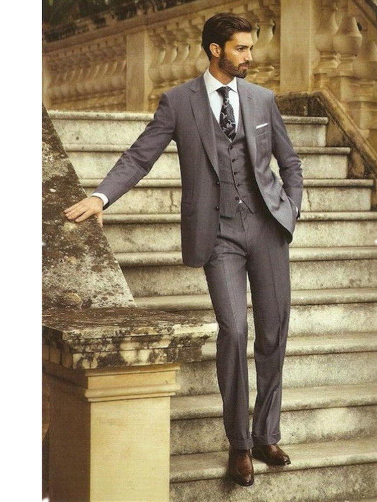 Деловые мужские костюмы на заказ мужские костюмы подходят костюмы ретро коричневый формальный костюм пользовательские Костюмы + брюки + жи