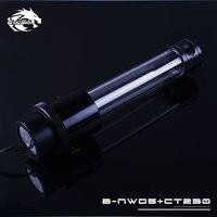 black silver Red,Silver,Black,Gold Bykski pump combo reservoir water tank ,D5 pump,1100L/H 3.8 meters lift, 230MM Stock B-NWD5+CT230 (2)