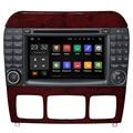 7 Android 7,1 Capacivite pantalla táctil 2 DIN reproductor de DVD del coche para Benz Clase S W220 S280 S320 S350 S400 S420 S430 GPS Radio Estéreo