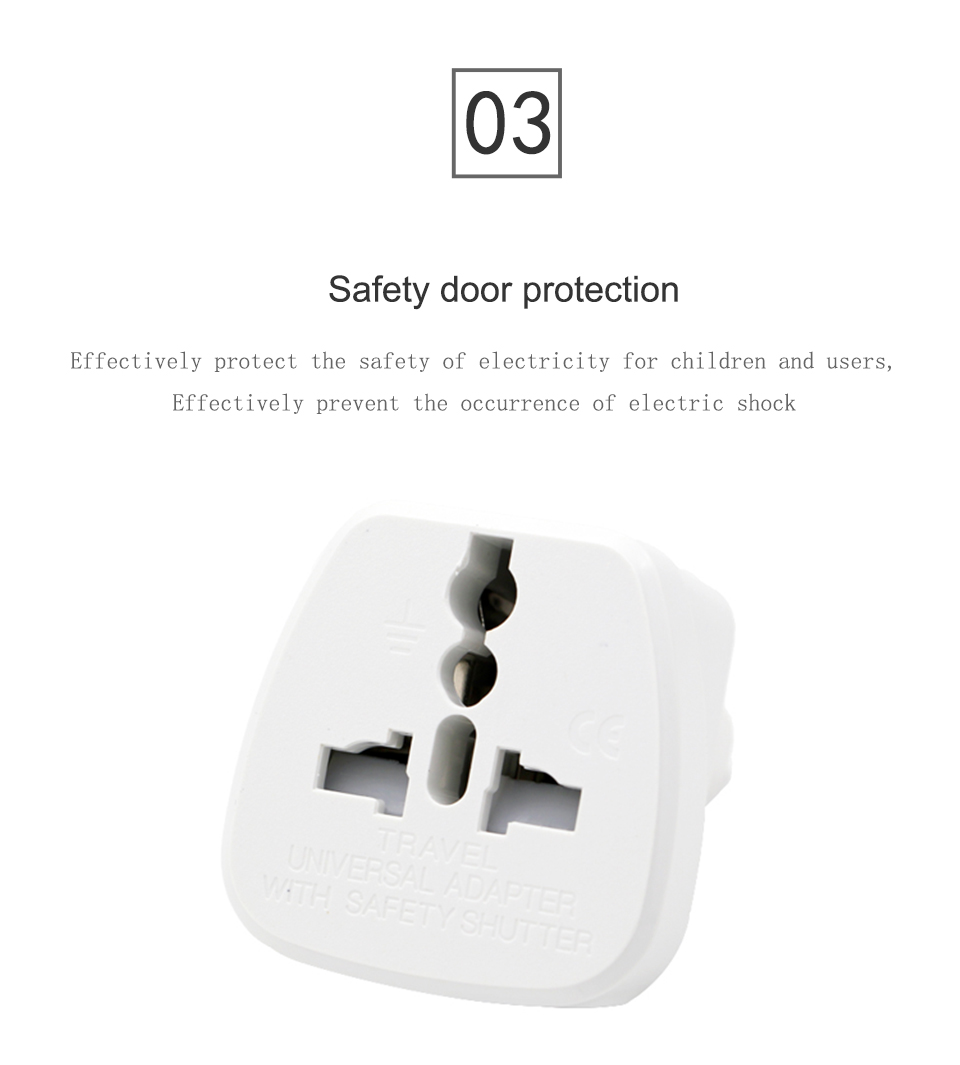 Universal EU US AU to UK AC Power Socket Plug Travel Charger Adapter Converter White ABS Electric Plugs For Mobile Phone Laptop (8)