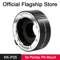 Micnova KK P25 Copper Macro Extension Tube Auto Focus Close up Image & TTL Exposure for Pentax K Mount SLR Cameras Accessories