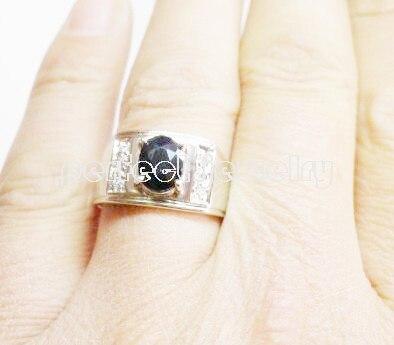 Мужское кольцо,, натуральные настоящие кольца с голубым сапфиром, серебро 925 пробы, хорошее ювелирное изделие, мужское кольцо, 1.55ct драгоценный камень C91253