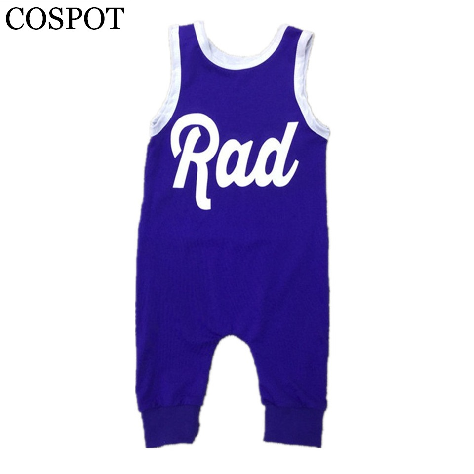 2019 New Baby Boys Rompers Boy Cotton Harem Jumpsuits Toddler Summer Tank Rompers Kids Fashion Playsuits 0-5Yrs 25F