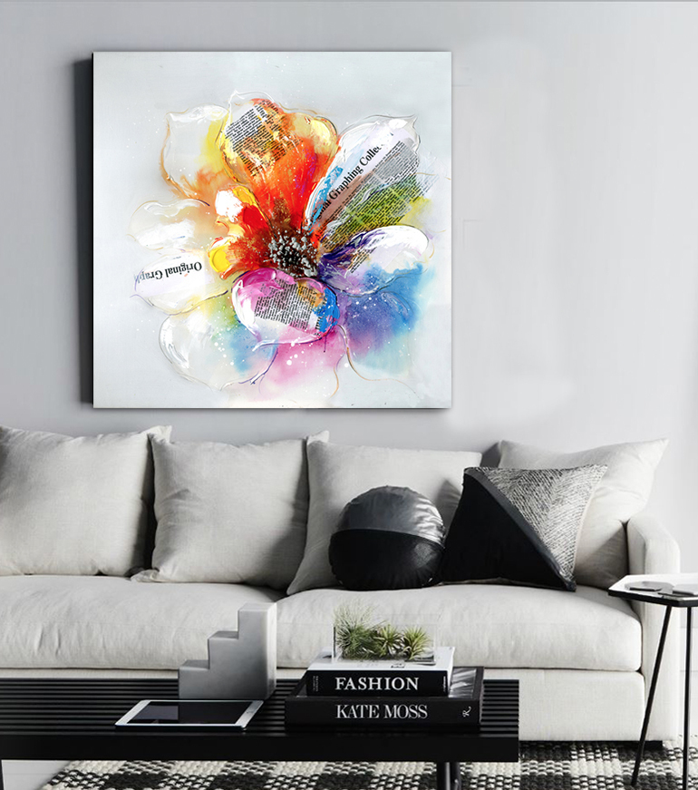 Aliexpress Com Buy Flowers Oil Painting Watercolor Rose Canvas