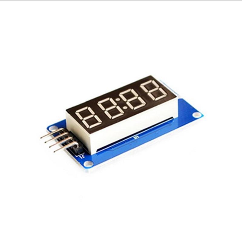 10 шт. 4 биты цифровой LED Дисплей модуль с часами Дисплей tm1637
