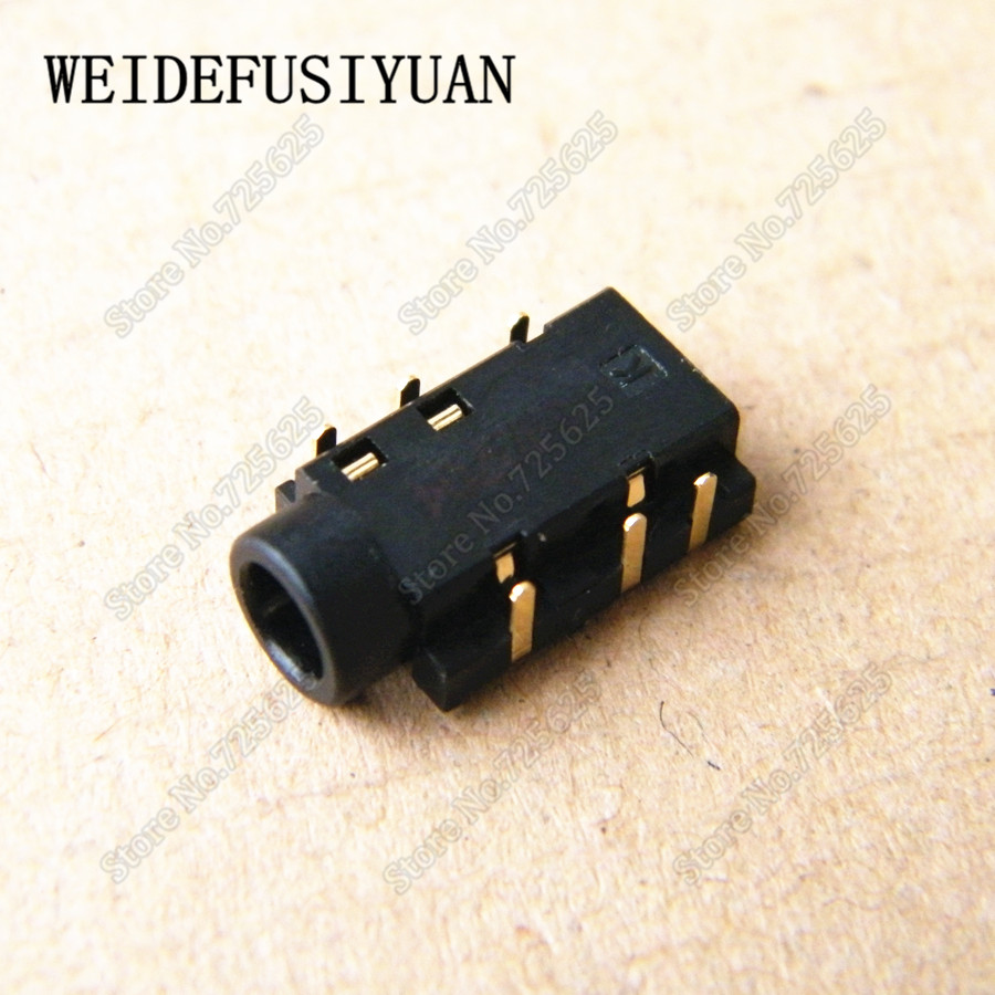 New 3.5mm Audio Port Socket For Asus X550V X550VC X453M X403 X403M Laptop Headphone Jack Connector 6P 6-pin yuxi hot 6 pins mic socket audio jack 3 5mm headphone port for lenovo dell etc notebook audio connector
