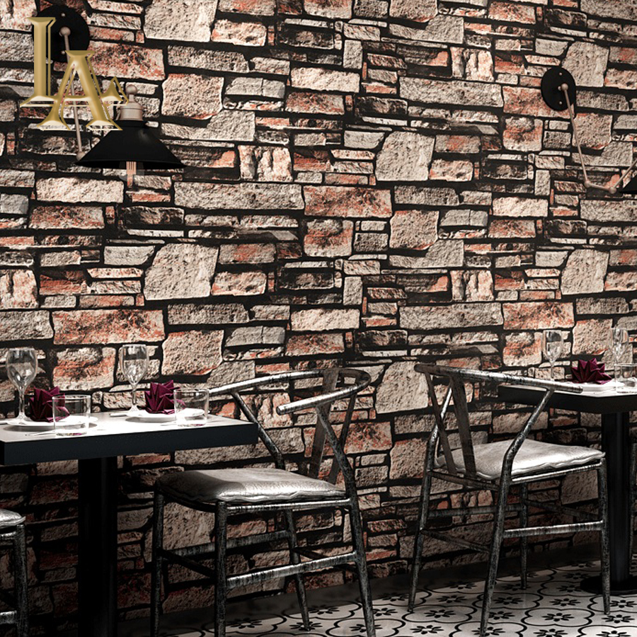 3D Stereoscopic Faux Stone Brick Wall Wallpaper For Walls 3 D Living Room TV Background Vinyl Wallpaper Papier Peint Mural 3D beibehang stone brick wall 3d wallpaper roll modern retro pvc vinyl wall bedroom living room background wallpaper for walls 3 d