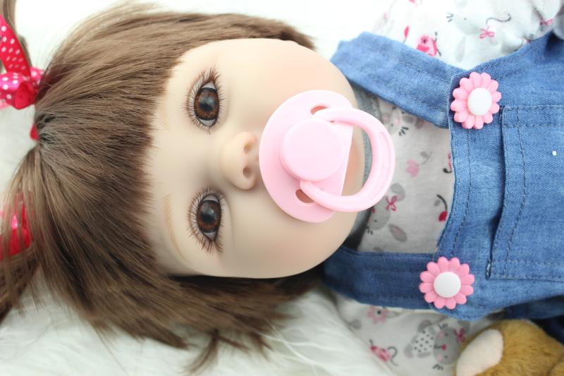 Newest Quality 22inches Silicone Reborn Baby Doll Solid Realistic Baby Reborn Full Body Cosplay Fashion Fake