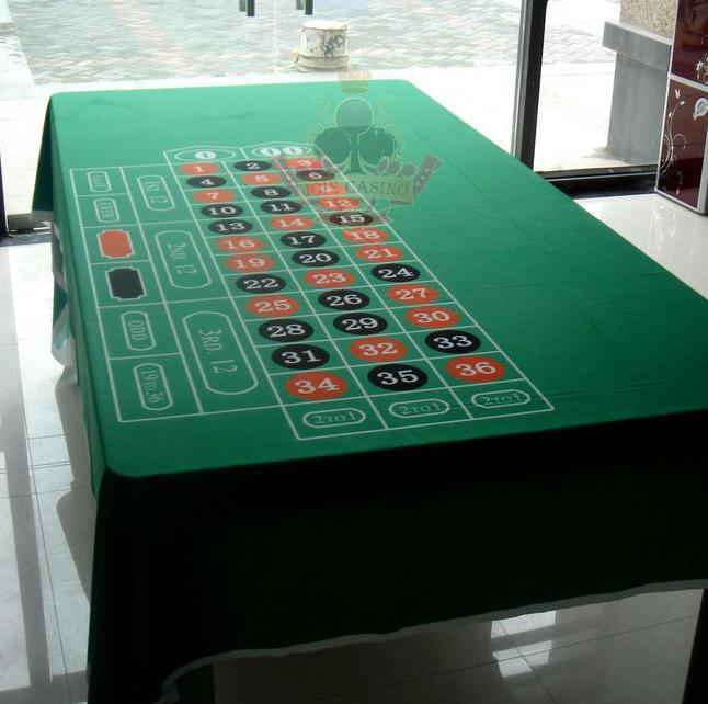 WP-010  Professional Water Resistant Poker Table Cloth,  Casino Layout Game Cloth 1PC