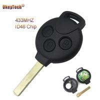 Okeytech 3 Botões Substituição Keyless Entry Remoto Chave Do Carro para Mercedes Benz Inteligente Chave 451 433MHz ID46 7941 Chip frete Grátis|Chave do carro|Automóveis e motos -