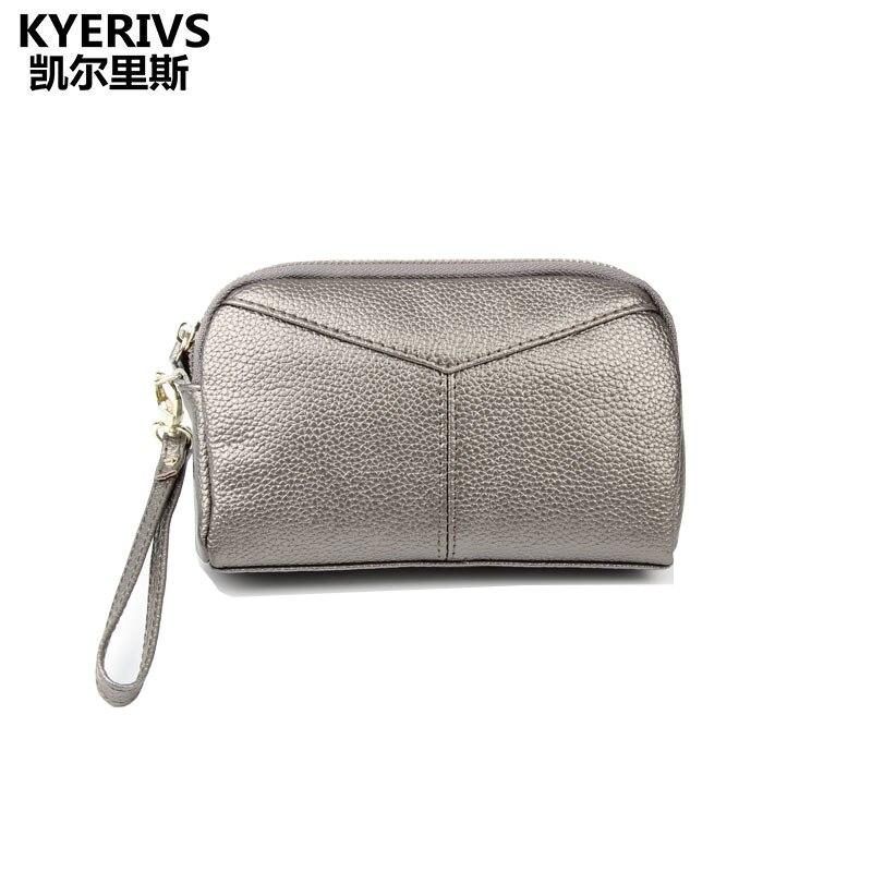 2017 Luxury Brand Women Wallets Split Leather Wallet Women Clutch Purse Zipper Clutch Bag Fashion Coin