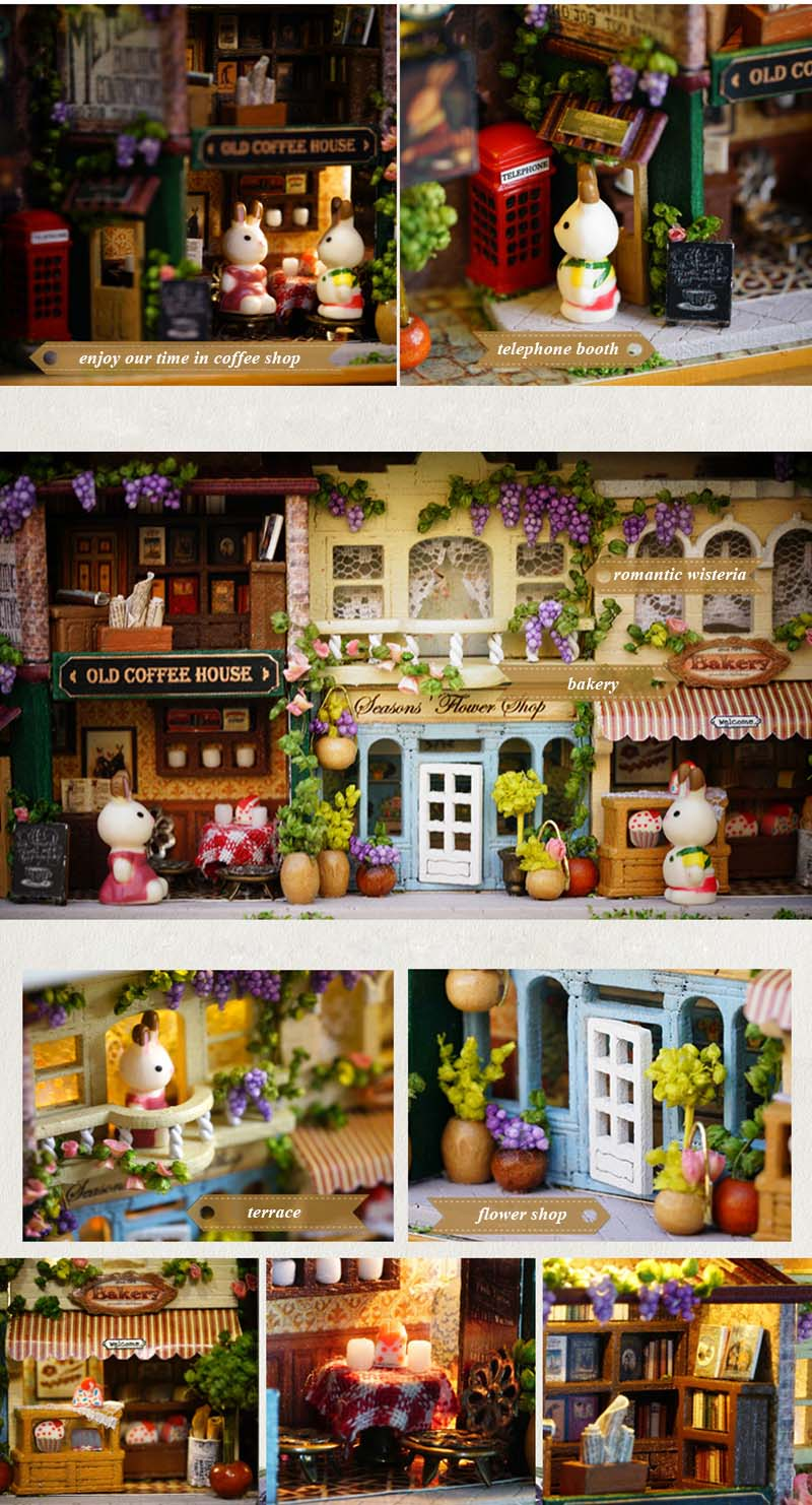 In A Happy Corner 3D Wooden DIY Handmade Box Theatre Dollhouse Miniature Box Cute Mini Doll House Assemble Kits Gift Toys (5)