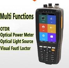 Confiável FF980PRO 4 em 1 OLS OPM Fibra Óptica Reflectômetro OTDR Tester VFL Tela Sensível Ao Toque Ferramentas Úteis para FTTH manutenção