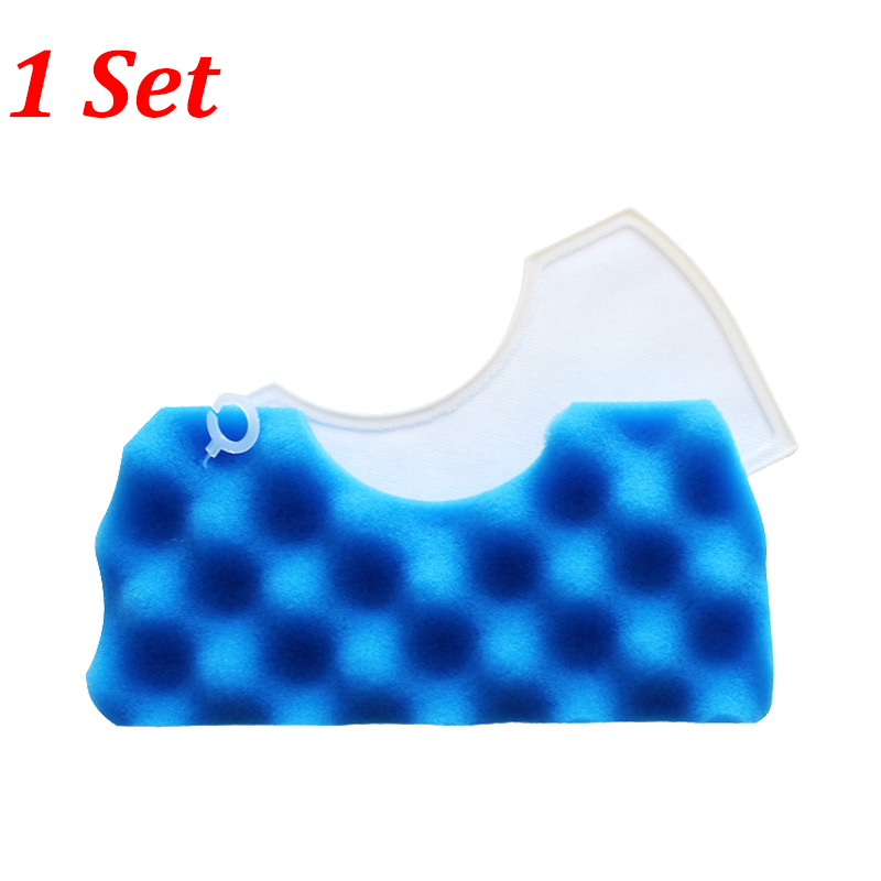 1PC Blue Sponge Filter + 1PC White Cotton Hepa Filter For Samsung DJ97-01040C SC43 SC44 SC45 SC47 Series Vacuum Cleaner Parts