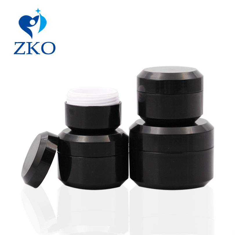 Hot Sale High Quality 5g/10g/15g/30g Mini Double Pp Cosmetic Jar Free Shipping Empty Cosmetic Containers