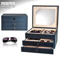 Óculos de sol caixa de Couro de luxo 24 óculos de cumulação caixa 24 peça caixa de armazenamento caixa de exibição óculos de sol óculos PU