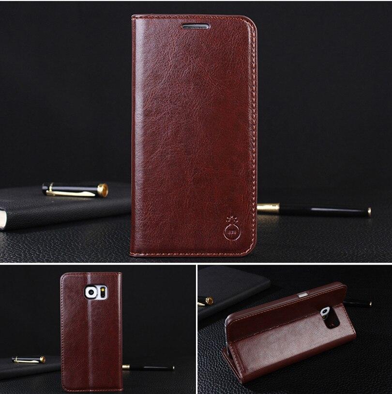 imágenes para Para Samsung Galaxy S5 S8 S7 S6 edge Más Caso Original de Lujo borde de cuero Cartera Cubierta Del Tirón Del Imán Para Samsung S6 S7 S5 Casos