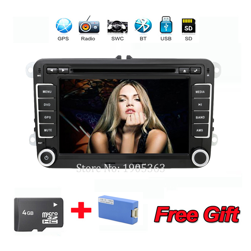 2DIN 7 VW Golf V passat bora turan DVD car dvd player with GPS touch screen