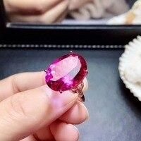 Shilovem 925 Серебряные кольца из стерлингового серебра Натуральный топаз розовые женские открытые классические новые ювелирные изделия gitf 12*16