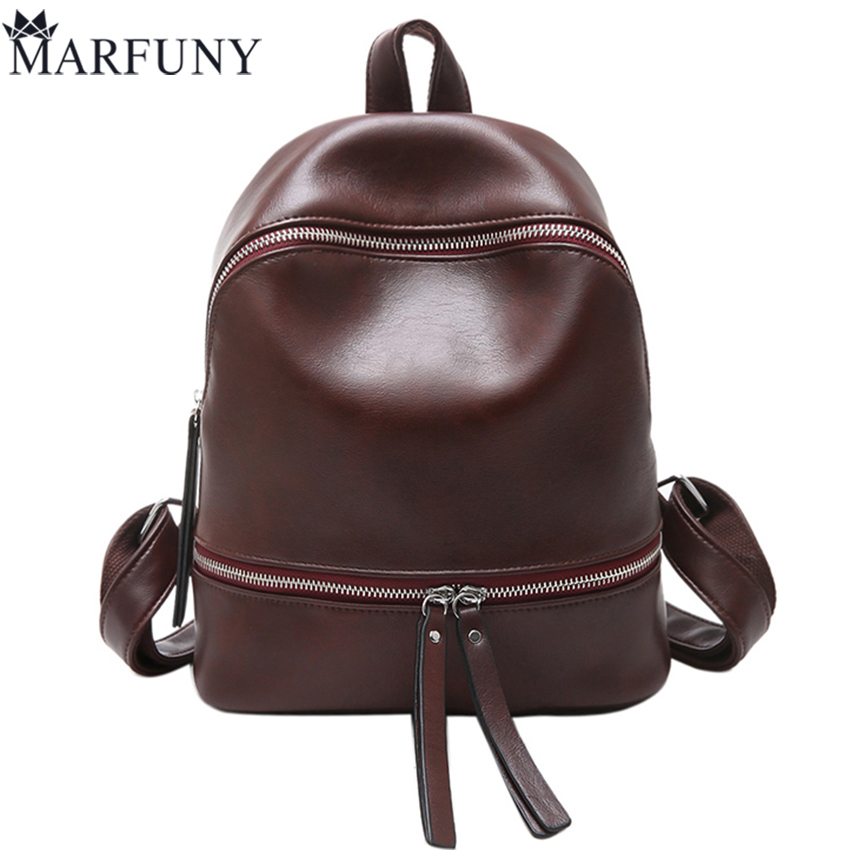 Vintage Pu Leather Backpack Hot Sale Backpacks For Teenage Girls School Bags High Quality Solid Travel Backpack Sac A Dos Femme foroch high quality backpacks for teenage girls women s leather backpack school bag casual vintage capacity travel backpack 156