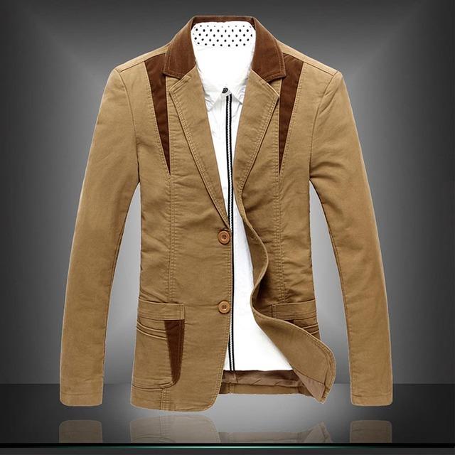 Envío gratis nuevo 2017 casual dos botón negocios chaqueta de los hombres estilo militar chaqueta de abrigo de los hombres de alta calidad más tamaño 8XL/XF6