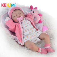 Exquisite 55cm Silicone Reborn Baby Doll Toys Realistic Newborn Sleeping Babies Doll For Girl Brinquedos Toddler Birthday Gift
