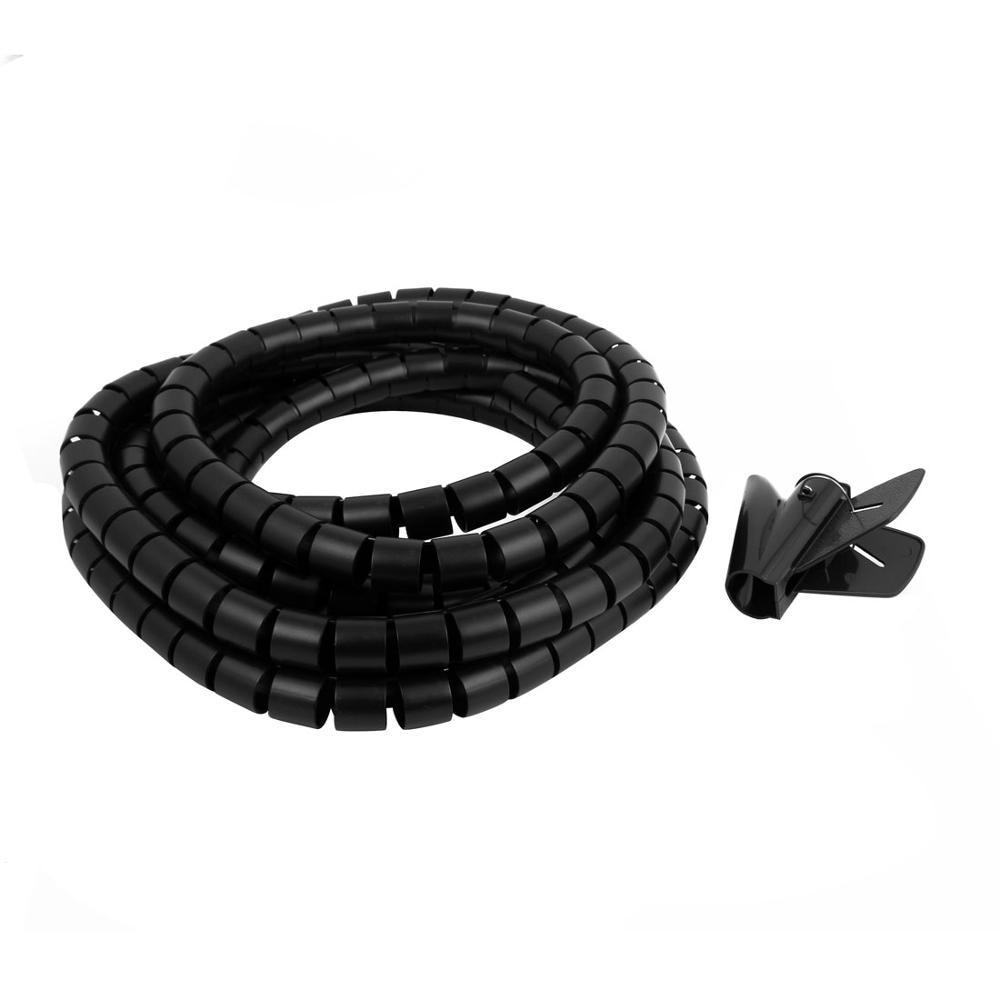 5 Mt Länge 30mm Spirale Draht Veranstalter Wrap Rohr Flexible ...