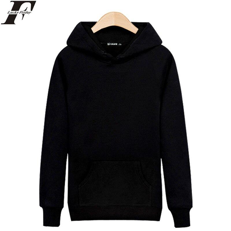 Luckyfridayf высокое качество одноцветное Цвет толстовка с капюшоном Для мужчин хип-хоп мода Черный, серый цвет одежда осень-зима Толстовки Для м...