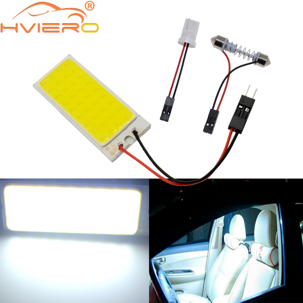 White T10 Cob 36Led Car Led w5w C5W C10w 194 Panel Lamps Auto Door Bulb Reading Lamp Backup Bulb Dome Festoon Light BA9S DC 12v ba9s 0 15w 5lm 1 led white light car indicator bulb transparent 2 pcs dc 12v