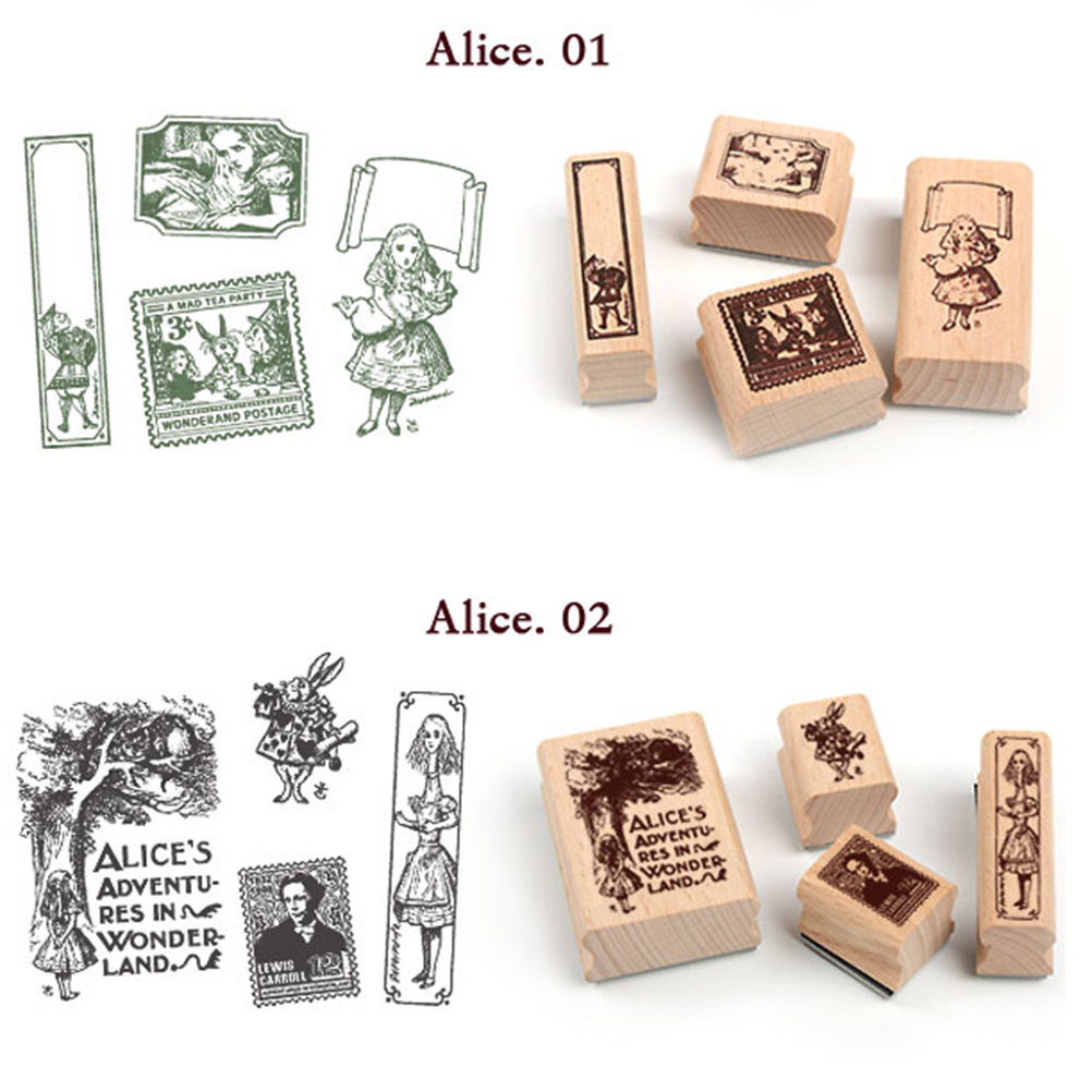 Diy Scrapbooking Angel Stamps Set Vintage Wooden Box Rubber Craft Ink Pad Alphabet Stamp Office & School Supplies