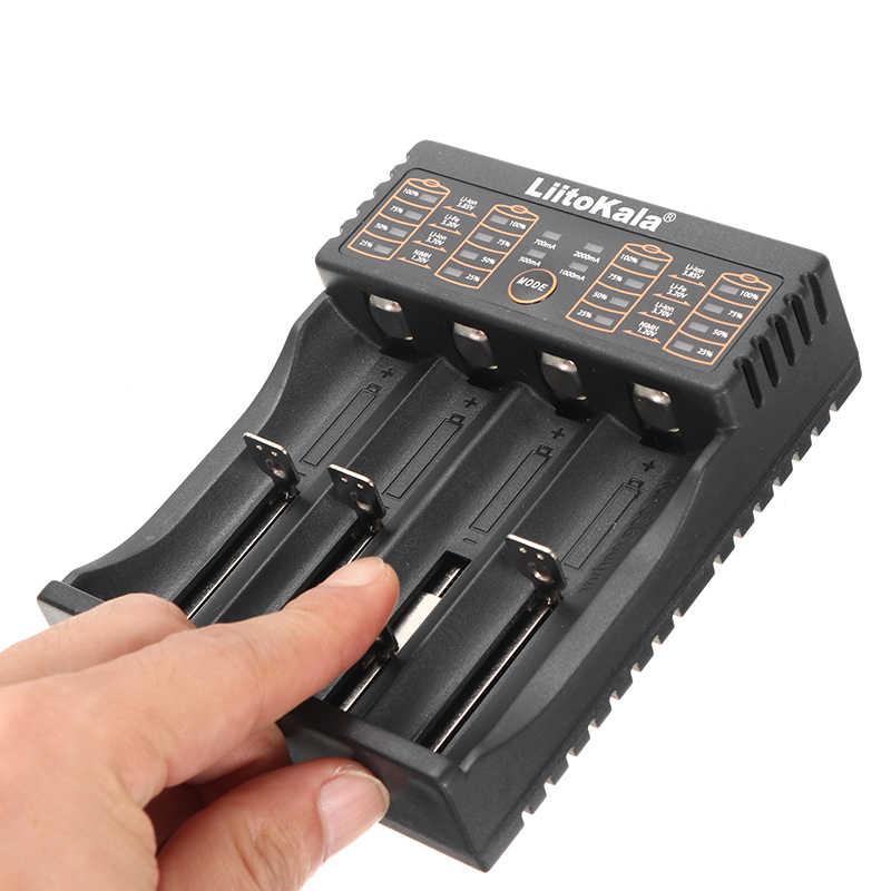 Liitokala Lii-402 зарядное устройство умный, микро USB зарядка NiMH литий-ионная батарея DC 5V 4 слота 18650/26650/16340/14500