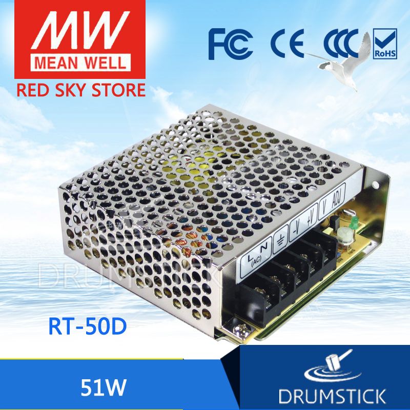 цена на Selling Hot MEAN WELL RT-50D meanwell RT-50 51W Triple Output Switching Power Supply