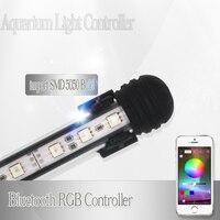 Светодиодная лампа для подсветки аквариума для аквариума, морской Светодиодный светильник для аквариума, RGB, контроллер Bluetooth, светодиодное...