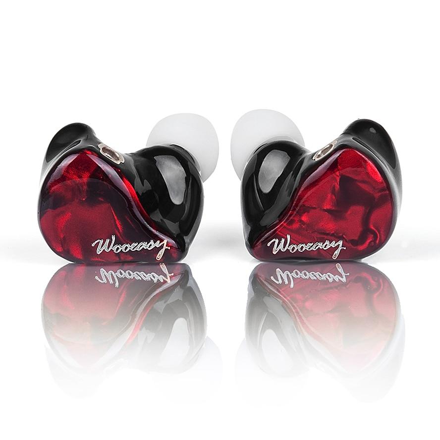 Wooeasy DX3 3BA in Ear Earphone Custom Made Balanced Armature Around Ear Earphone With MMCX Plated Earphone original senfer dt2 ie800 dynamic with 2ba hybrid drive in ear earphone ceramic hifi earphone earbuds with mmcx interface
